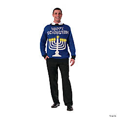 Adult's Chanukah Light-Up Sweater - Large