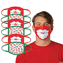 Adult's Christmas Washable Face Masks - 6 Pc.