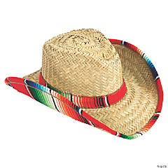 Adult's Cowboy Hat with Sarape Trim