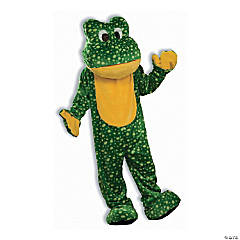 Adult's Deluxe Plush Mascot Frog Costume