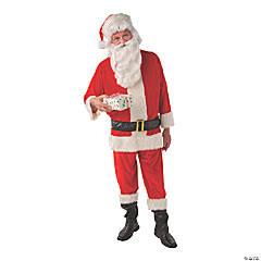 Adult's Deluxe Velvet Santa Costume - Standard
