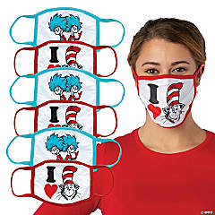 Adult's Dr. Seuss™ The Cat in the Hat™ Washable Face Masks - 6 Pc.