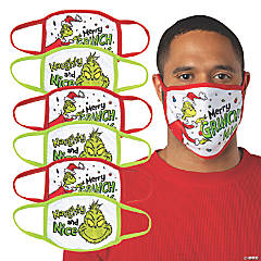 Adult's Dr. Seuss™ The Grinch Washable Face Masks - 6 Pc.