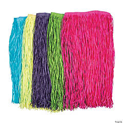 Adult's Dyed Raffia Hula Skirts