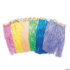 Adult's Flowered Hula Skirts