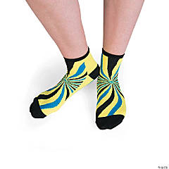 Adult's Fun Ankle Socks with Grippers
