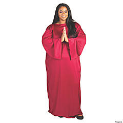 Adult's Maroon Plus-Size Nativity Gown