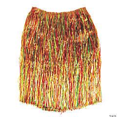Adult's Multicolor Grass Hula Skirt