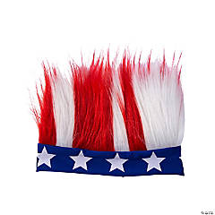 Adult's Patriotic Crazy Hair Headband