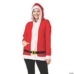 Adult's Simply Santa Hoodie with Belt - Extra Large