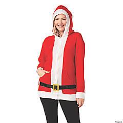 Adult's Simply Santa Hoodie with Belt - Medium