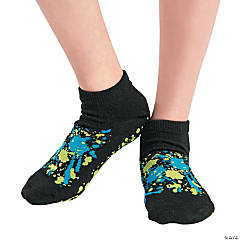 Adult's Splatter Ankle Gripper Socks