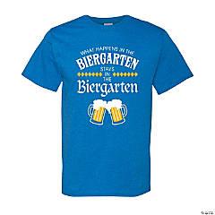 Adult's What Happens in the Biergarten Stays in the Biergarten T-Shirt - Medium