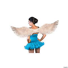 Adults Christmas Pageant Angel Wings - Silver