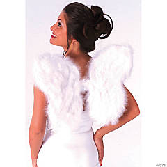 Adults Christmas Pageant Feather Wings - White