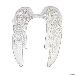 Adults Christmas Pageant White Angel Wings - Large