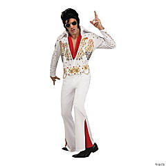 Adult's Deluxe Eagle Jumpsuit Elvis Presley Costume - Extra Large