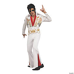 Adult's Deluxe Eagle Jumpsuit Elvis Presley Costume - Small