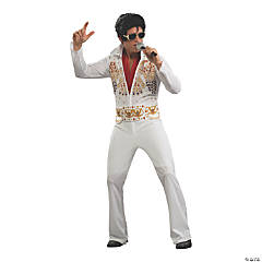 Adult's Eagle Jumpsuit Elvis Presley Costume - Extra Large