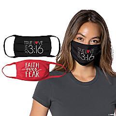 Adult's Faith Washable Face Masks - 2 Pc.