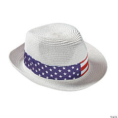 Adult's Fedora with Patriotic Band