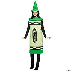 Adult's Green Crayola® Crayon Costume - Medium