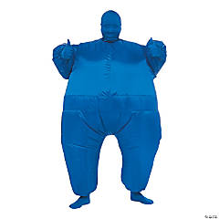 Adult's Inflatable Blue Suit Costume