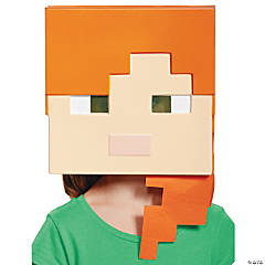 adults minecraft alex vacuform mask