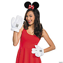 Adult's Minnie Mouse Ears Gloves Kit