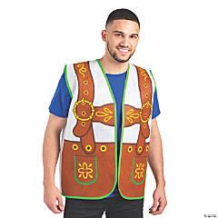 Adult's Oktoberfest Lederhosen Vest