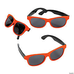 Adults Orange & Black Two-Tone Sunglasses
