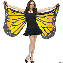 Adult's Orange Soft Butterfly Wings