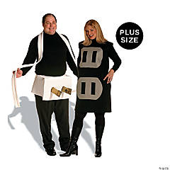 adults plus size plug socket couples costume