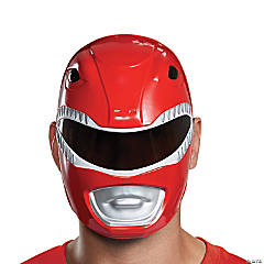 Adult's Red Power Ranger Mask