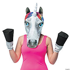Adult's Unicorn Head Mask with Hooves