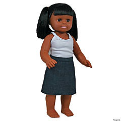 African American Girl Doll 16In
