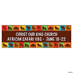 Personalized Large African Safari VBS Banner