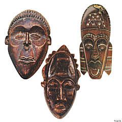 African Tribal Theme Mask Cutouts
