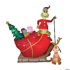 Airblown Grinch with Sled