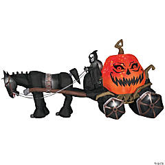 Airblown Light-up Grim Reaper Coach With Horse