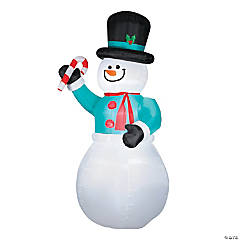 Airblown Snowman with Candy Cane