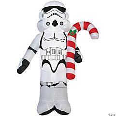 Airblown Stormtrooper with Candy Cane