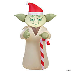 Airblown Yoda with Candy Cane