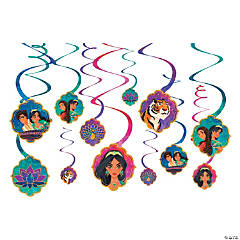 Aladdin™ Hanging Swirl Decorations - 12 Pc.