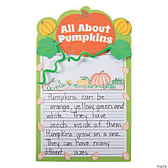 All About Pumpkins Writing Prompt Craft Kit