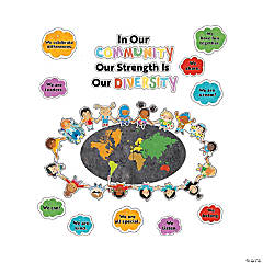 All Are Welcome Diversity Bulletin Board Set