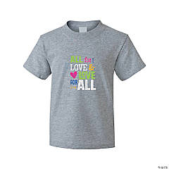 All for Love Youth T-Shirt - Extra Large