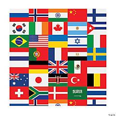 All Nations Flag Backdrop Banner