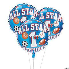 All Star 1st Birthday Mylar Balloons