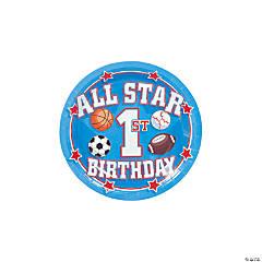 All Star 1st Birthday Paper Dessert Plates